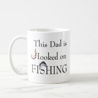 Dad is Hooked on FISHING - Relation customizable Coffee Mug