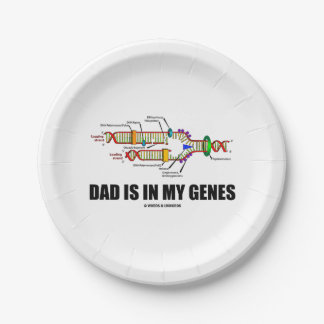 Dad Is In My Genes DNA Replication Humor Paper Plate