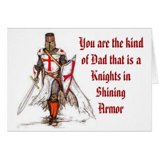 Dad - Knight in Shining Armor Greeting Card