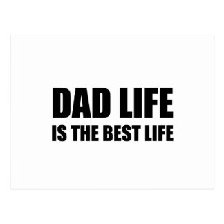 Dad Life Best Life Postcard