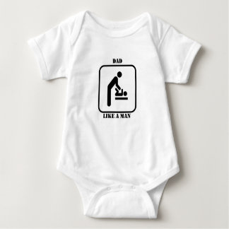 DAD LIKE A MAN ONESY BABY BODYSUIT