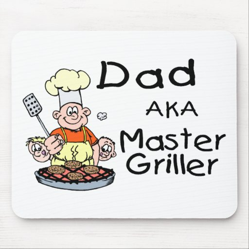 Dad Master Griller Mouse Pad