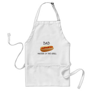 Dad Master of the Grill - Hot Dog Standard Apron