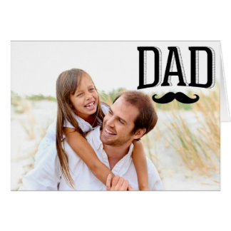 Dad Mustache Happy Father's Day Photo Card