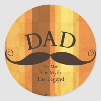 Dad Mustache Sticker