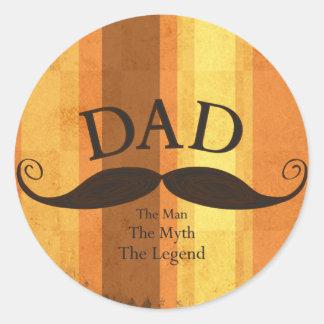 Dad Mustache Sticker