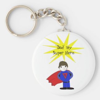 Dad My Super Hero Basic Round Button Key Ring