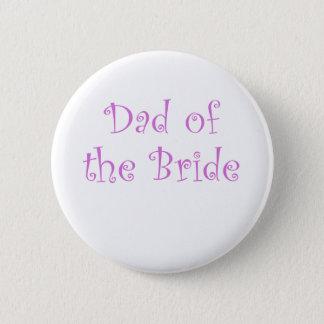 Dad of the Bride 6 Cm Round Badge