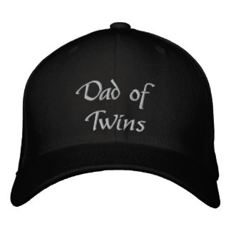 Dad of Twins Embroidered Baseball Caps