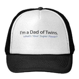 Dad of Twins Super Power Mesh Hats