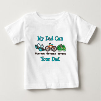 Dad Outswim Outbike Outrun Triathlon Baby T-shirt