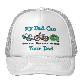 Dad Outswim Outbike Outrun Triathlon Hat
