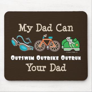 Dad Outswim Outbike Outrun Triathlon Mousepad