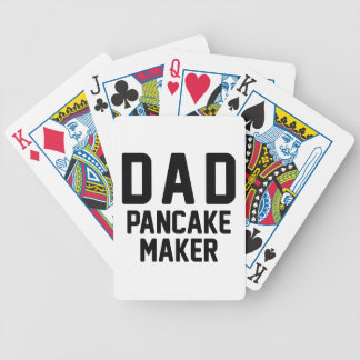Dad Pancake Maker Bicycle Playing Cards