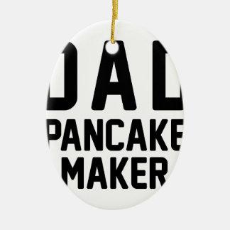 Dad Pancake Maker Ceramic Oval Decoration