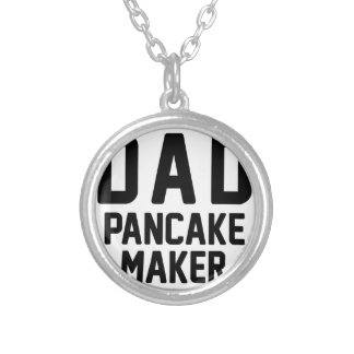 Dad Pancake Maker Silver Plated Necklace
