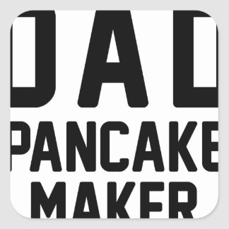 Dad Pancake Maker Square Sticker
