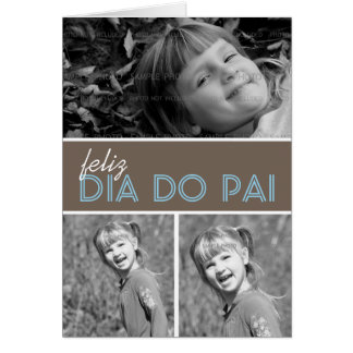 Dad Photo Greeting Card Template | Portuguese