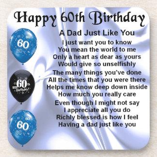 Dad Poem  60th Birthday Coaster