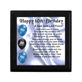 Dad Poem  60th Birthday Gift Box