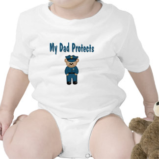 Dad Protects Policeman Bear Bodysuit
