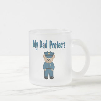 Dad Protects Policeman Bear Coffee Mugs