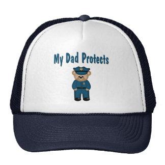 Dad Protects Policeman Bear Mesh Hat