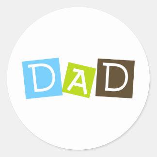Dad Round Stickers