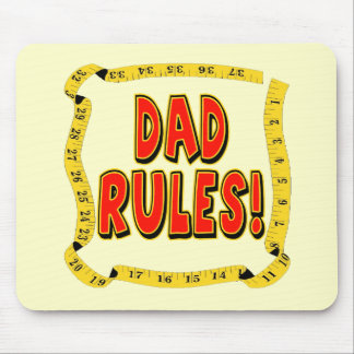 Dad Rules Gifts For Him Mouse Pad