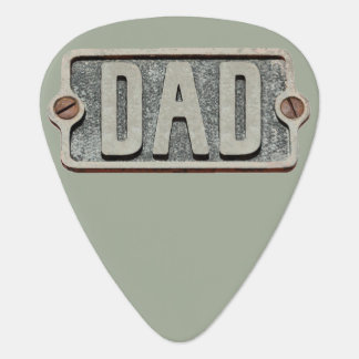 DAD rustic metal plate design pick