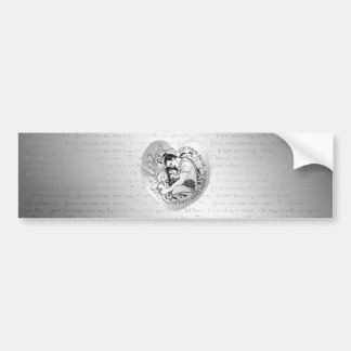Dad s little girl line drawing text design bumper stickers