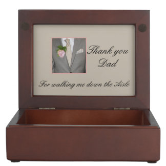 Dad Thanks for Walking me down Aisle Keepsake Box