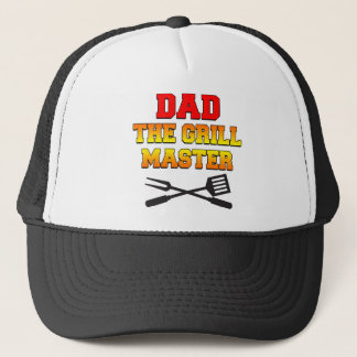 Dad The Grill Master Trucker Hat