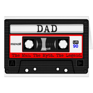 Dad - The Man. The Myth. The Legend. Cassette Tape Card
