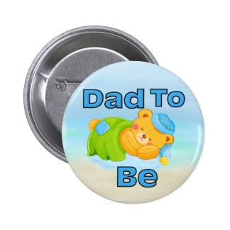 Dad to Be (Boy) 2 Inch Round Button