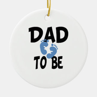 Dad to Be (boy) Christmas Tree Ornament