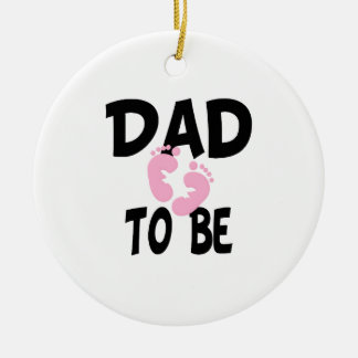 Dad to Be (girl) Christmas Tree Ornaments