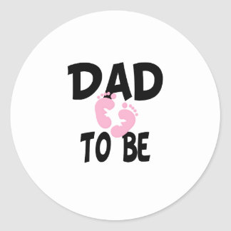Dad to Be (girl) Round Stickers