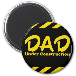 Dad Under Construction 6 Cm Round Magnet