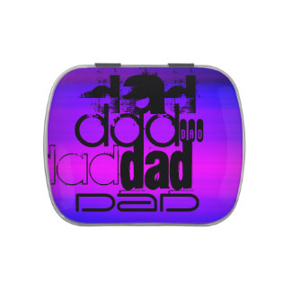 Dad; Vibrant Violet Blue and Magenta Candy Tins