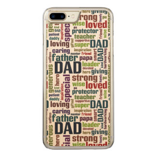 Dad Word Cloud Text Father's Day Typography Carved iPhone 7 Plus Case