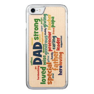 Dad Word Cloud Text Father's Day Typography Carved iPhone 8/7 Case