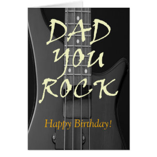 Dad You Rock Custom Happy Birthday Greeting Card