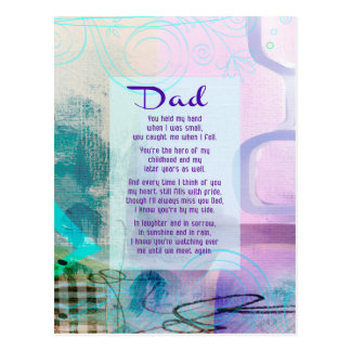 Dad, You Stood Beside Me - Sympathy Postcard