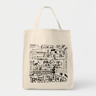 DADA POSTER (THEO van DOESBURG) Grocery Tote Grocery Tote Bag