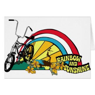 Dadawan beach bike rainbow sunshine greeting card