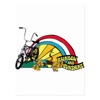 Dadawan beach bike rainbow sunshine postcard