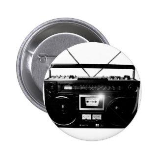 Dadawan Ghettoblaster boombox 1980 6 Cm Round Badge