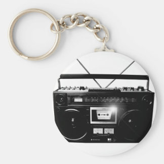 Dadawan Ghettoblaster boombox 1980 Basic Round Button Key Ring