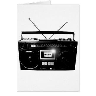 Dadawan Ghettoblaster boombox 1980 Greeting Card